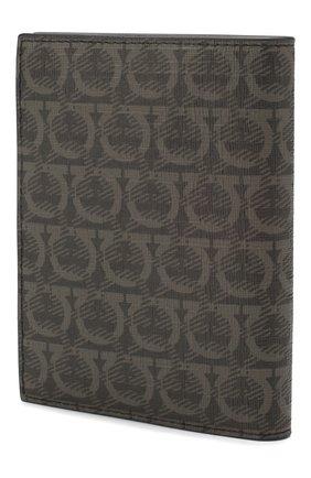 Мужская кожаная обложка для паспорта SALVATORE FERRAGAMO темно-серого цвета, арт. Z-0716498 | Фото 2