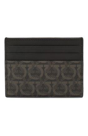 Мужской кожаный футляр для кредитных карт SALVATORE FERRAGAMO темно-серого цвета, арт. Z-0716540 | Фото 1