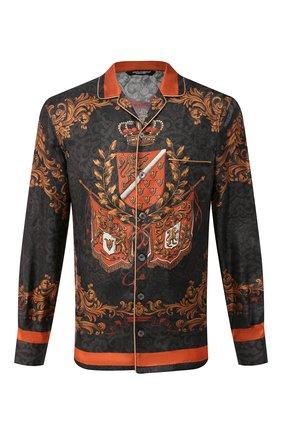 Мужская шелковая сорочка DOLCE & GABBANA черного цвета, арт. G5EM2T/FI1FW | Фото 1