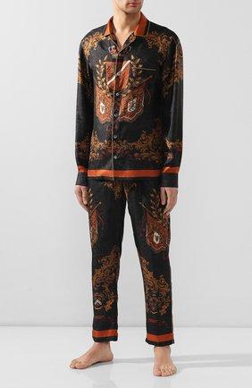 Мужская шелковая сорочка DOLCE & GABBANA черного цвета, арт. G5EM2T/FI1FW | Фото 2