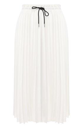 Женская юбка PROENZA SCHOULER WHITE LABEL белого цвета, арт. WL2015065-BY152 | Фото 1 (Материал внешний: Синтетический материал; Длина Ж (юбки, платья, шорты): Миди; Материал подклада: Синтетический материал; Статус проверки: Проверена категория)