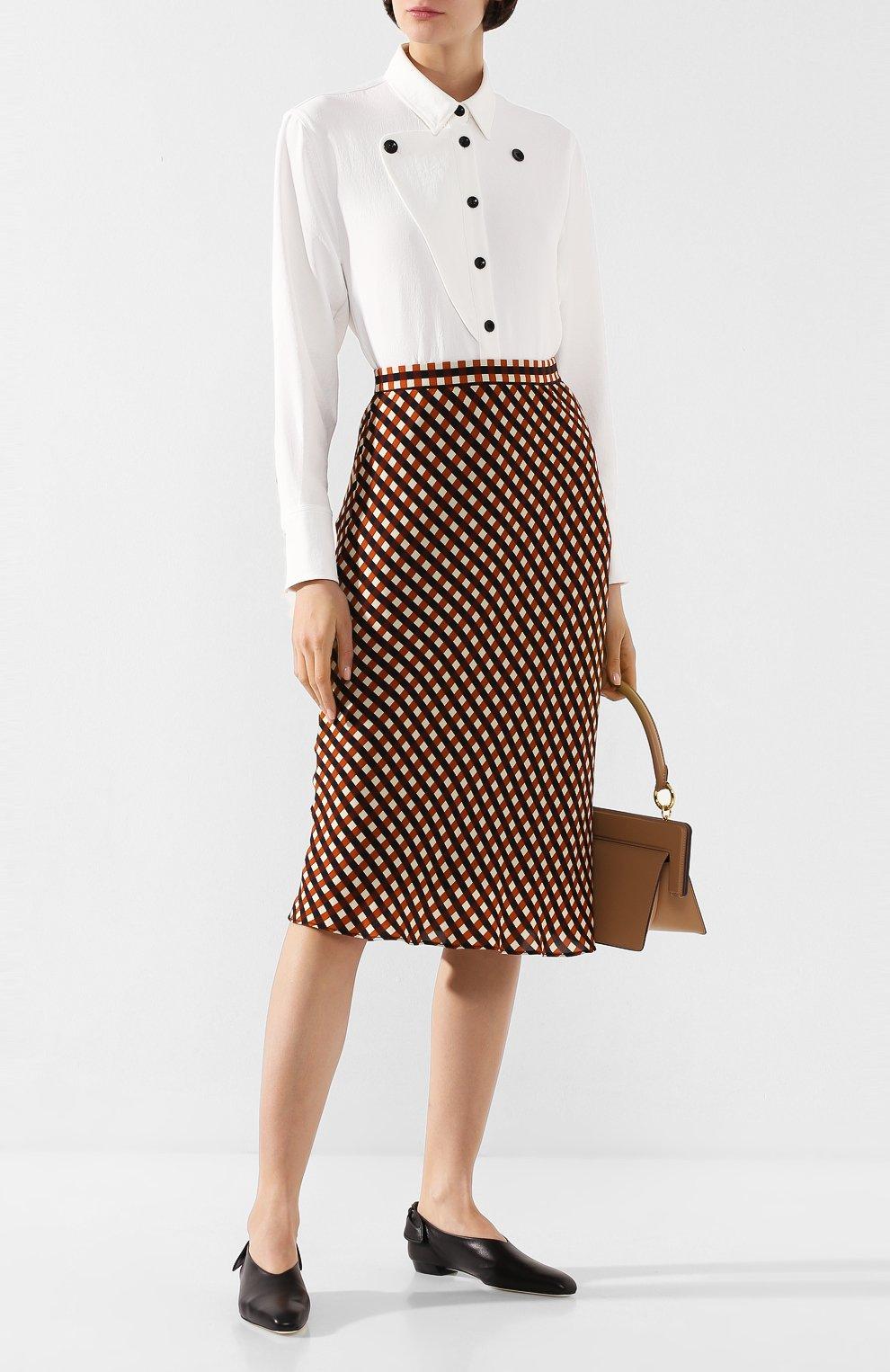 Женская юбка из вискозы PROENZA SCHOULER WHITE LABEL разноцветного цвета, арт. WL2015068-BY151 | Фото 2 (Длина Ж (юбки, платья, шорты): Миди; Материал подклада: Синтетический материал)