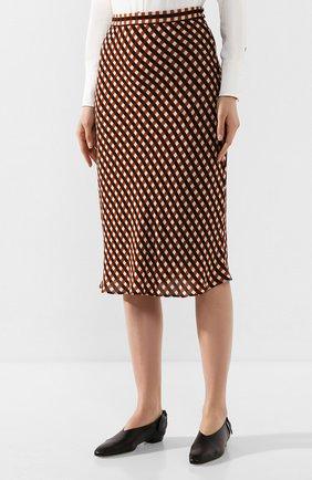 Женская юбка из вискозы PROENZA SCHOULER WHITE LABEL разноцветного цвета, арт. WL2015068-BY151 | Фото 3 (Длина Ж (юбки, платья, шорты): Миди; Материал подклада: Синтетический материал)