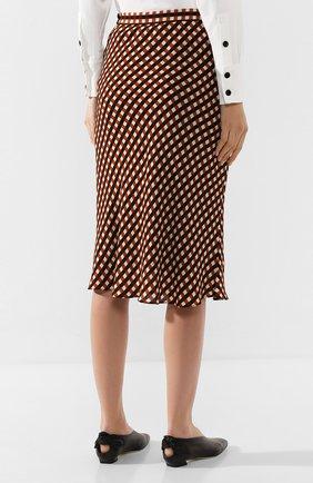 Женская юбка из вискозы PROENZA SCHOULER WHITE LABEL разноцветного цвета, арт. WL2015068-BY151 | Фото 4 (Длина Ж (юбки, платья, шорты): Миди; Материал подклада: Синтетический материал)