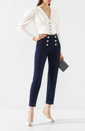 Женские джинсы GIUSEPPE DI MORABITO синего цвета, арт. PS20024PA-74   Фото 2