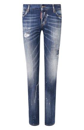 Женские джинсы DSQUARED2 синего цвета, арт. S75LB0282/S30342 | Фото 1