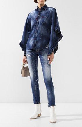 Женские джинсы DSQUARED2 синего цвета, арт. S75LB0282/S30342 | Фото 2