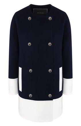 Женское кашемировое пальто KITON темно-синего цвета, арт. D49623DK05I38 | Фото 1