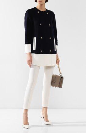 Женское кашемировое пальто KITON темно-синего цвета, арт. D49623DK05I38 | Фото 2