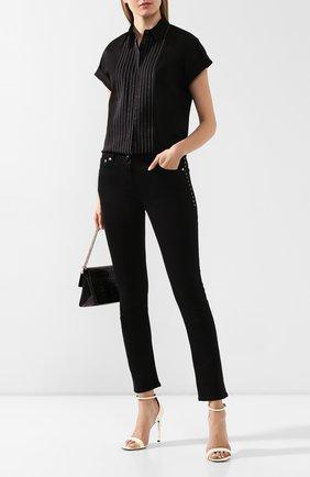 Женская хлопковая блузка BRUNELLO CUCINELLI черного цвета, арт. M0091MH816   Фото 2