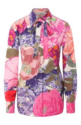 Женская шелковая блузка VALENTINO розового цвета, арт. TB3AB16D587 | Фото 1