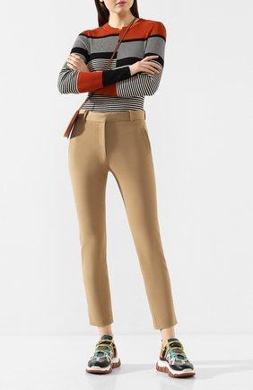 Женские брюки из смеси вискозы и хлопка JOSEPH бежевого цвета, арт. JP000899 | Фото 2