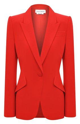 Женский жакет ALEXANDER MCQUEEN красного цвета, арт. 610628/QEAAA | Фото 1