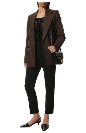 Женские шерстяные брюки CHLOÉ черного цвета, арт. CHC20SPA93062 | Фото 2