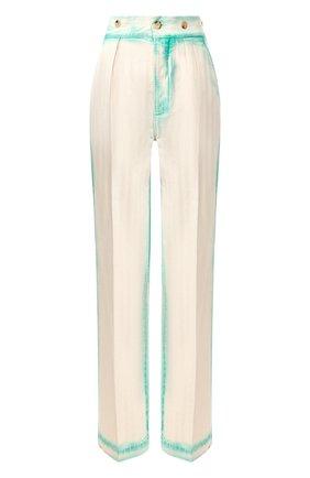 Женские хлопковые брюки LANVIN зеленого цвета, арт. RW-TR507K-4393-P20 | Фото 1