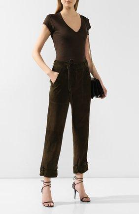 Женская льняная футболка TOM FORD хаки цвета, арт. TSJ320-FAX609 | Фото 2
