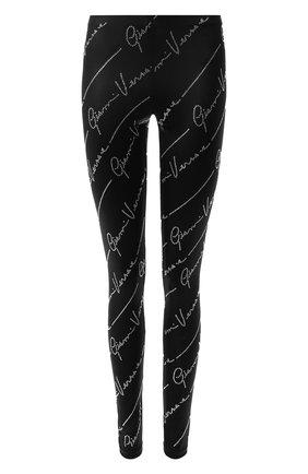 Женские леггинсы VERSACE черного цвета, арт. A85748/A230744 | Фото 1