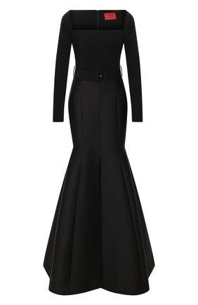 Женское платье-макси SOLACE черного цвета, арт. 0S25103 | Фото 1