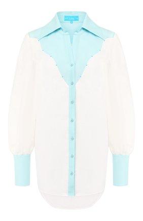 Женская льняная рубашка A MERE CO разноцветного цвета, арт. AMC-R20-G4-41 | Фото 1