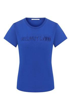 Женская хлопковая футболка HELMUT LANG синего цвета, арт. J06DW502 | Фото 1