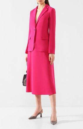 Женская юбка-миди THEORY фуксия цвета, арт. J0109302 | Фото 2