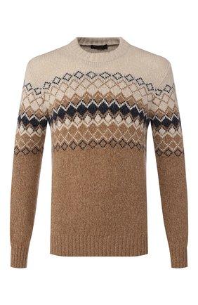 Мужской кашемировый свитер LORO PIANA бежевого цвета, арт. FAI8869 | Фото 1