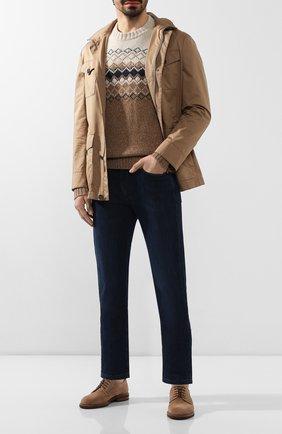 Мужской кашемировый свитер LORO PIANA бежевого цвета, арт. FAI8869 | Фото 2
