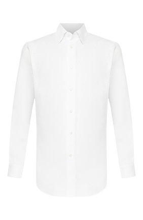 Мужская льняная рубашка BRIONI белого цвета, арт. SCAY0L/PZ114   Фото 1