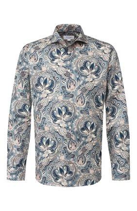 Мужская хлопковая рубашка ETON бирюзового цвета, арт. 1000 00454   Фото 1