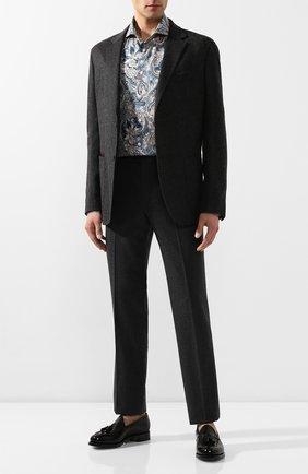 Мужская хлопковая рубашка ETON бирюзового цвета, арт. 1000 00454   Фото 2