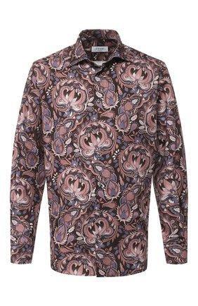 Мужская хлопковая рубашка ETON коричневого цвета, арт. 1000 00619 | Фото 1