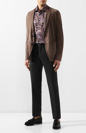 Мужская хлопковая рубашка ETON коричневого цвета, арт. 1000 00619 | Фото 2