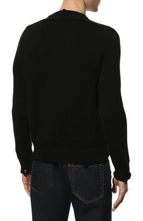 Мужской хлопковый свитер SAINT LAURENT черного цвета, арт. 604798/YAL02 | Фото 4 (Рукава: Длинные; Принт: Без принта; Длина (для топов): Стандартные; Стили: Гранж; Материал внешний: Хлопок; Мужское Кросс-КТ: Свитер-одежда; Статус проверки: Проверена категория)