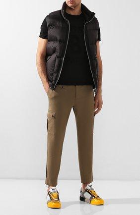Мужская хлопковая футболка BERLUTI черного цвета, арт. R17JRS39-002 | Фото 2