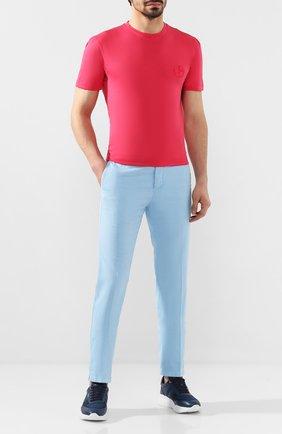 Мужская хлопковая футболка GIORGIO ARMANI красного цвета, арт. 3HST62/SJKRZ | Фото 2