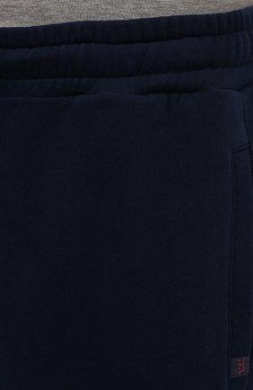 Мужские хлопковые джоггеры DEREK ROSE темно-синего цвета, арт. 9250-DEV0002   Фото 5 (Мужское Кросс-КТ: Брюки-трикотаж; Длина (брюки, джинсы): Стандартные; Материал внешний: Хлопок; Силуэт М (брюки): Джоггеры; Статус проверки: Проверена категория)