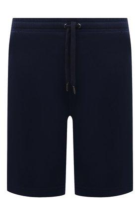 Мужские хлопковые шорты DEREK ROSE темно-синего цвета, арт. 9300-DEV0002 | Фото 1