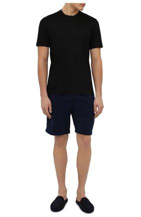 Мужские хлопковые шорты DEREK ROSE темно-синего цвета, арт. 9300-DEV0002 | Фото 2
