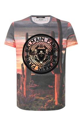 Мужская хлопковая футболка  BALMAIN разноцветного цвета, арт. TH11601/I257 | Фото 1