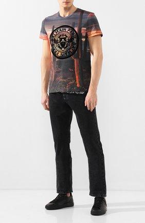 Мужская хлопковая футболка  BALMAIN разноцветного цвета, арт. TH11601/I257 | Фото 2