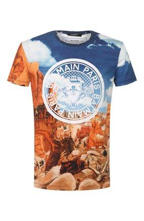 Мужская хлопковая футболка  BALMAIN разноцветного цвета, арт. TH11601/I241 | Фото 1