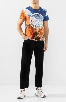 Мужская хлопковая футболка  BALMAIN разноцветного цвета, арт. TH11601/I241 | Фото 2
