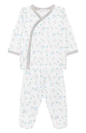 Детский комплект из распашонки и ползунков MAGNOLIA BABY синего цвета, арт. 563-32P-LB | Фото 1