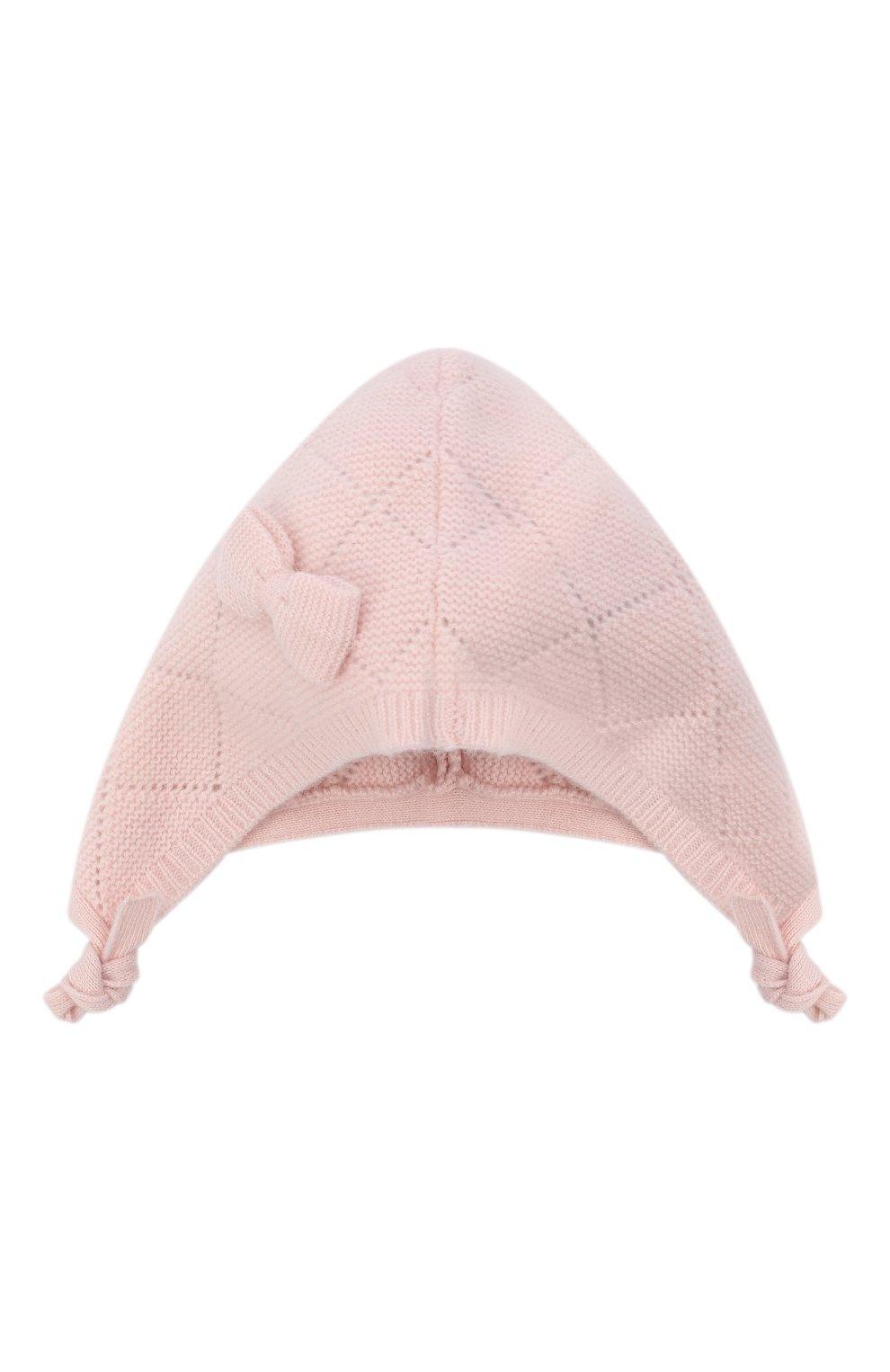 Детского кашемировая шапка OSCAR ET VALENTINE розового цвета, арт. BEG03 | Фото 1 (Материал: Кашемир, Шерсть)