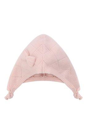 Детского кашемировая шапка OSCAR ET VALENTINE розового цвета, арт. BEG03 | Фото 1