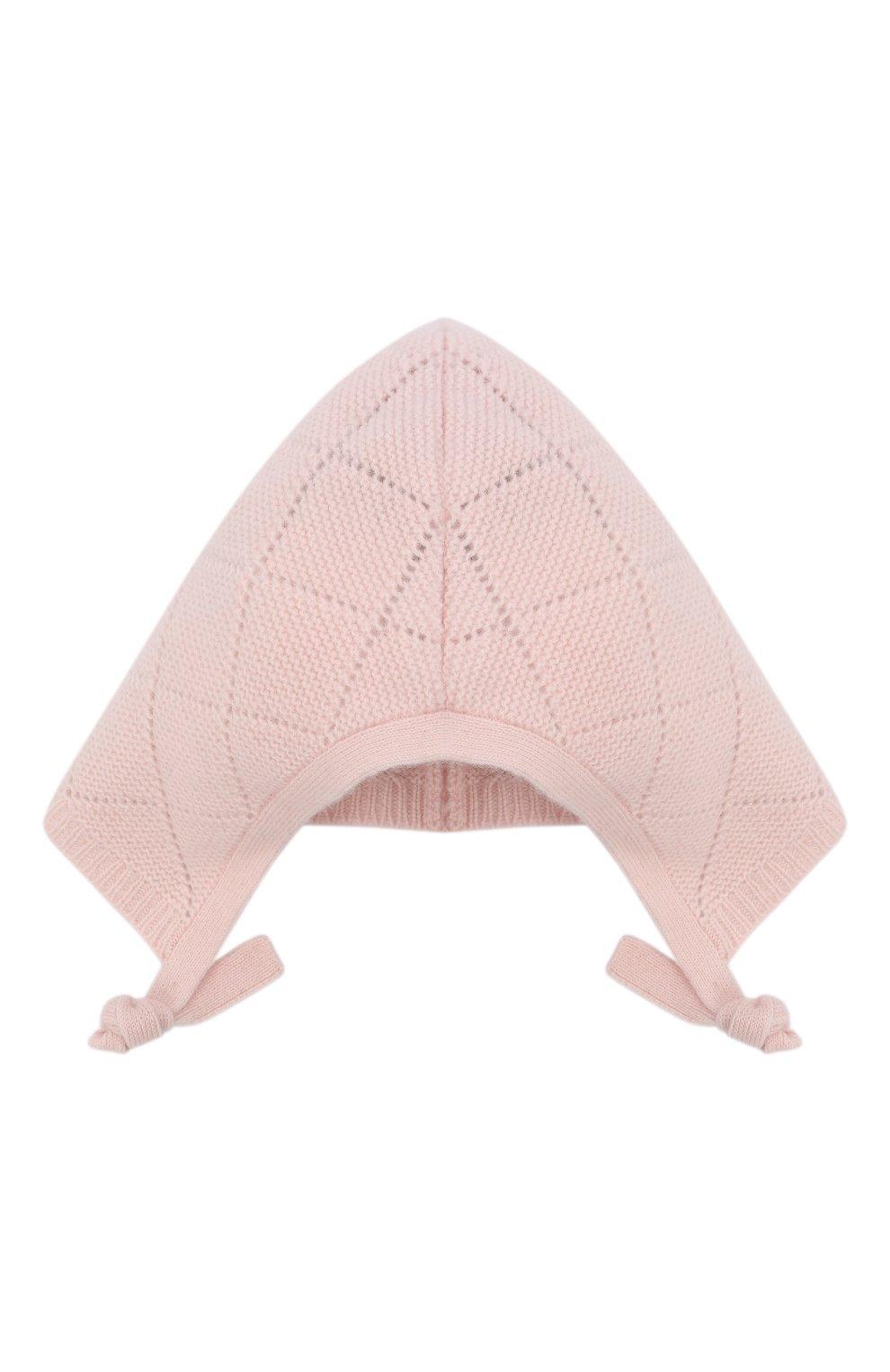 Детского кашемировая шапка OSCAR ET VALENTINE розового цвета, арт. BEG03 | Фото 2 (Материал: Кашемир, Шерсть)