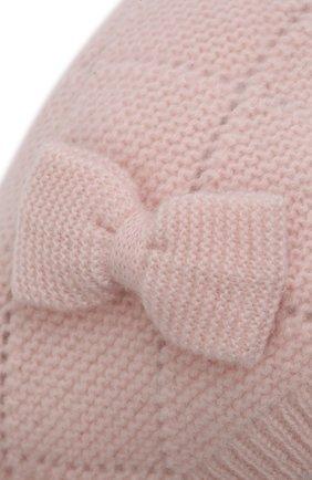 Детского кашемировая шапка OSCAR ET VALENTINE розового цвета, арт. BEG03 | Фото 3 (Материал: Кашемир, Шерсть)