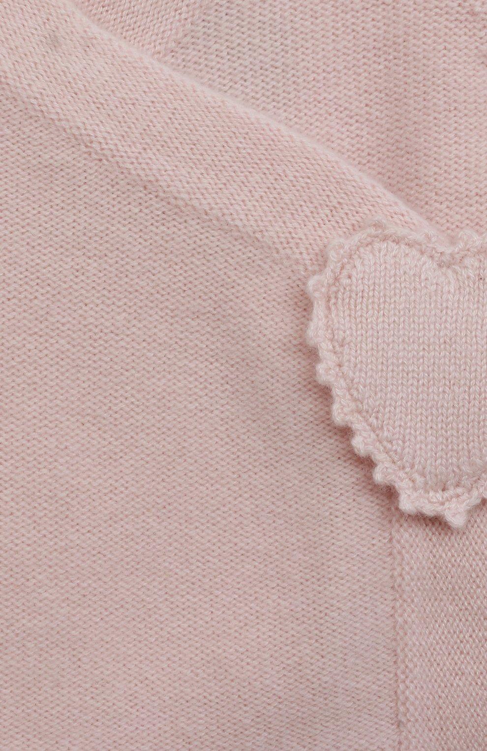 Детский кашемировый кардиган OSCAR ET VALENTINE розового цвета, арт. BRA04   Фото 3