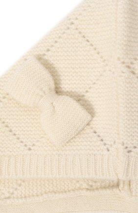 Детского кашемировая шапка OSCAR ET VALENTINE бежевого цвета, арт. BEG03 | Фото 3