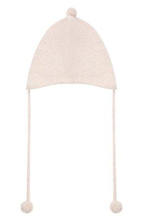 Детского кашемировая шапка OSCAR ET VALENTINE бежевого цвета, арт. BON01 | Фото 2